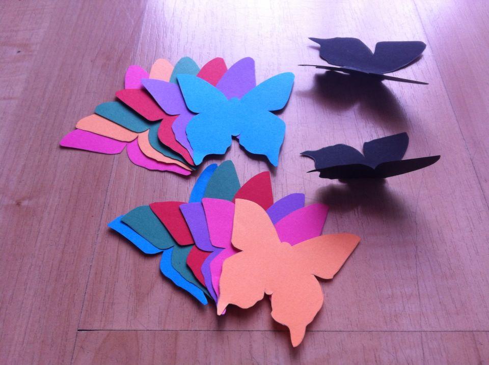 Diy decoraci n mariposas 3d para peques y grandes - Mariposas en la pared ...